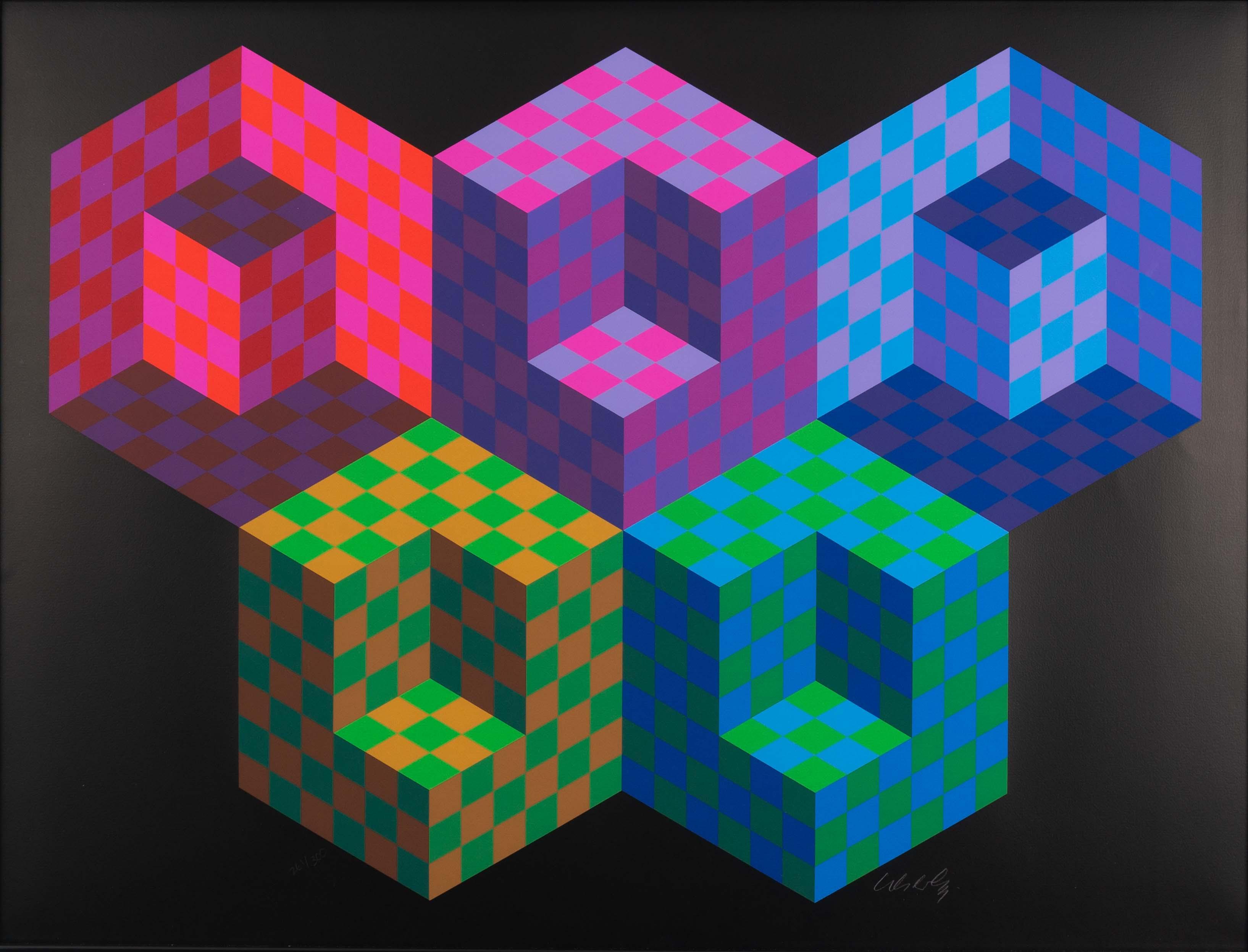 Victor Vaserely - Hexa 5 - unframed 14-09-2019 exp (1 van 2)